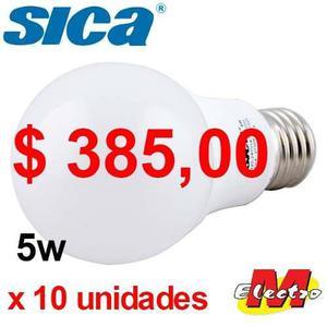 Lampara Led Bulbo E27 5w X 10unid Calida Sica Electro Medina