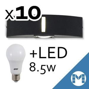 Pack X10 Aplique Bidireccional Exterior /interior + Led 8,5w