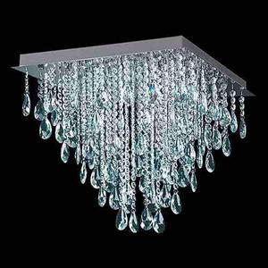 Plafon 30x30cm Caireles De Cristal Con 4 Led De Regalo