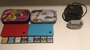 2 Nintendo Dsi Con Fundas, 8 Juegos, Bateria Y Cargador