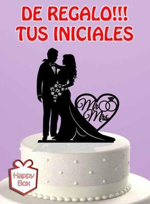 Adorno Torta Casamiento Boda Cake Topper Personalizado
