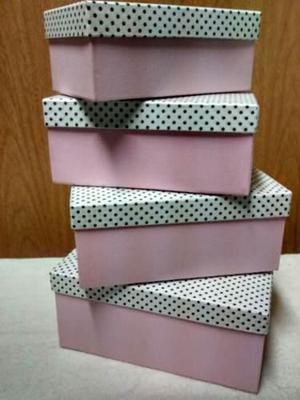 Cajas Artesanales De Carton Forradas A Mano A Medida X4 Uni