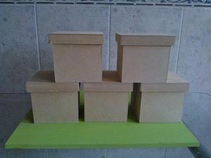 Cajas De Fibrofacil De 10x10x10 Con Tapa Zapato X 10 Unid