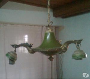 LAMPARA DE BRONCE COLGANTE