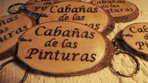 Llaveros Artesanales Grabados Madera Souvenir Personalizados