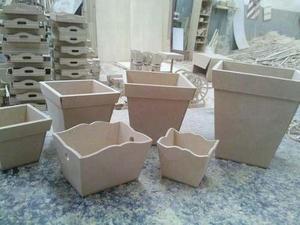 Macetas Topiarios Fibrofacil X 10 Unidades Mini
