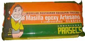 Parsecs Masilla Artesano Epoxi Para Modelar Secado Lento