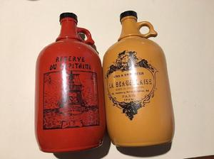 Set botella botellón ceramica vintage