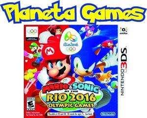 Mario y Sonic Olympic Rio 2016 Nintendo 3ds Caja Cerrada