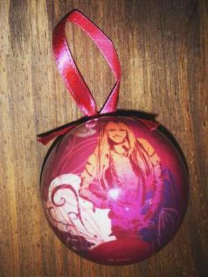 bola para arbol de navidad de hannah montana (miley cyrus),