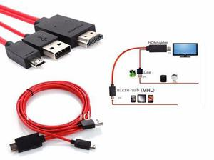 Cable Adaptador Micro Usb A Mhl Hdmi S3/s4 Note 2/3