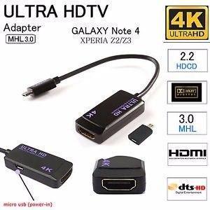 Ultra Hdtv Mhl3.0 A Hdmi Galaxy Note 4 Xperia Z2/z3