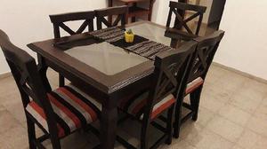 Comedor NUEVO 6 sillas !! Flete sin cargo !! ♥♥