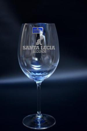 Copon Vino Cristal Bohemia 590 Ml Grabado Laser