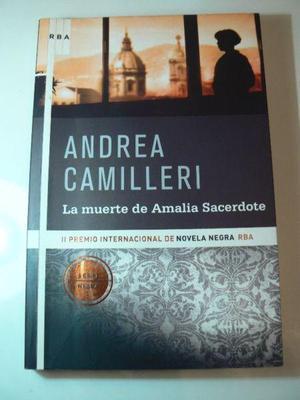 Libro La Muerte de Amalia Sacerdote por Andrea Camilleri.