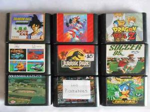 Lote De 9 Juegos De Sega Genesis Posot Class