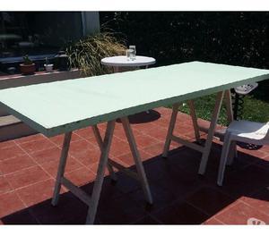 Mesa con caballetes ideal quincho o terraza posot class - Mesa con caballetes ...