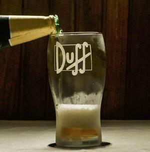 Vaso + Posavasos Los Simpsons Duff. Estampa Con Serigrafía