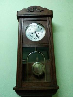 Reloj Antiguo A Pendulo El Aguila Fms Caja De Roble