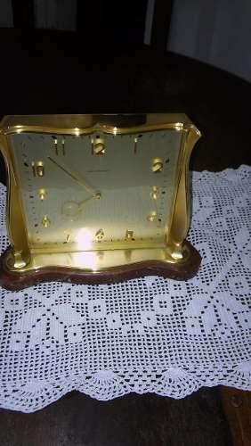 Reloj Antiguo De Bronce Y Mármol 15 Rubis Swise Funcionando