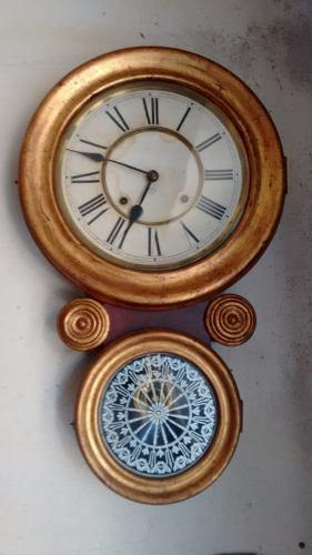 Reloj Antiguo De Pared A Pendulo Ansonia