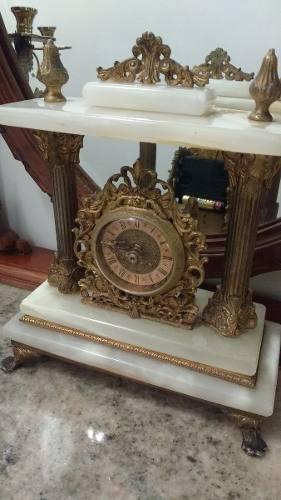 Reloj Antiguo Junghans Con Mármol