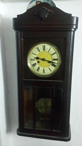 Reloj De Madera Con Pendulo Y Campana A Cuerda