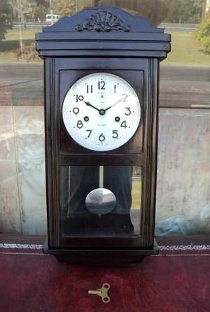 Reloj De Pared C/ Péndulo Y Sonería Medio Carrillón -