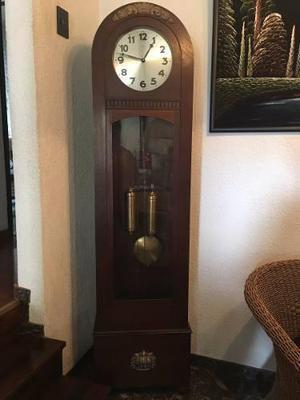 Reloj De Pie Antiguo Unghans Pendular Y Cadena