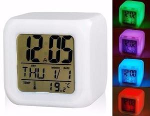 Reloj Despertador, Cubo Digital Luz Led. Regalo Navidad