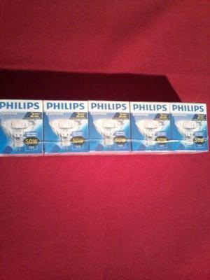 5 lamparas Philips dicroica essential 50W - Oferta!