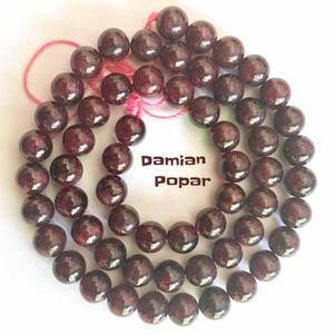 Perlas De Piedras Naturales Granate 7mm