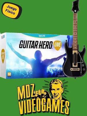 Guitar Hero Live - Wii U - Juego + Guitarra! - Mdz Videogame