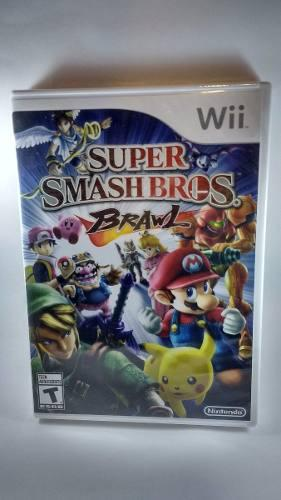 Super Smash Bros Brawl Wii Nuevo Fisico Sellado