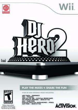 Wii Dj Hero 2 Wii Juegos Originales Rock Band Guitar Hero