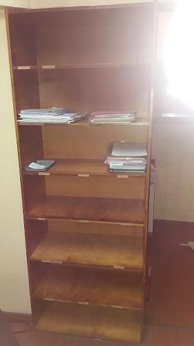 Biblioteca De Madera Marrón 7 Estantes Fijos