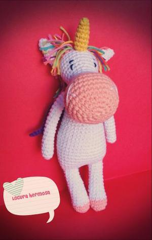 Unicornio Tejido A Crochet (amigurumi)