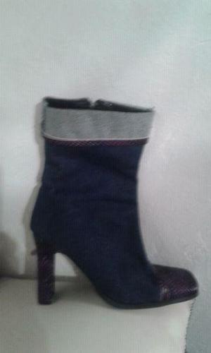 Botas media caña de jean