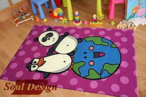 Carpeta Alfombra Infantil Animales 80 X 120 Cm Fundasoul