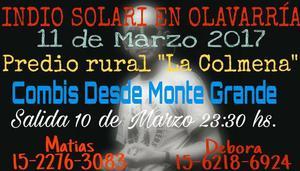 Indio en Olavarria 2017