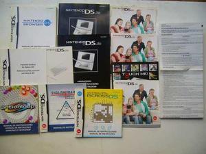 Lote Manuales Nintendo Ds Originales Muy Buen Estado!