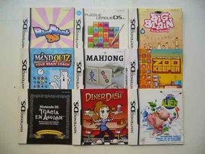 Manuales Nintendo Ds Originales Muy Buen Estado!