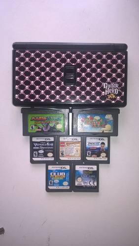 Nintendo Ds Lite + 7 Juegos + Funda