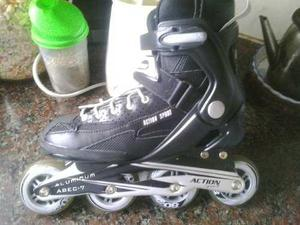 Rollers Action Sport Abec Aluminum 7 Talle 38