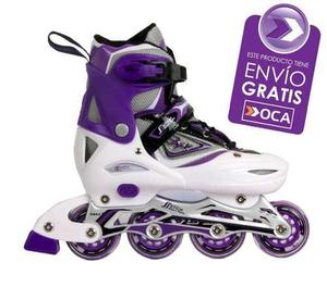 Rollers Profesionales Patines Aluminio Abec7 + Bolso Regalo