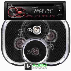 Combo Stereo Pioneer 1850 + 4 Parlantes Soundstream Jvaudio
