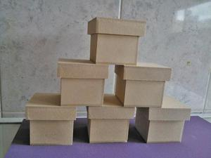 Cajitas De 6x6x6 De Fibrofacil Con Tapa Zapato