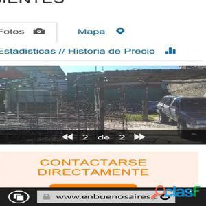EXCELENTE OPORTUNIDAD !!! VENDO UN LOTE DE 8.66 X 12 FRENTE