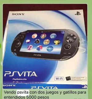 Psvita Wifi 3g Nueva Con 2 Juegos Y Gatillos