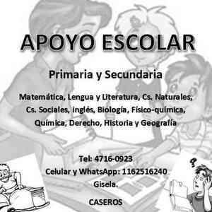 CLASES PARTICULARES. APOYO ESCOLAR: CASEROS (TRES DE